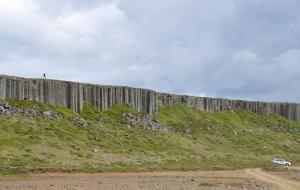 bei den Basaltsäulen Gerduberg