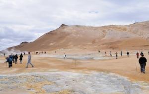 Hverier, Solfartarenrunde zum Namafjall (Schwefelschlammlöcher)