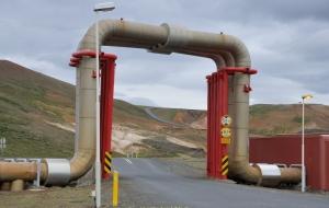 geothermisches Kraftwerk bei Hverier