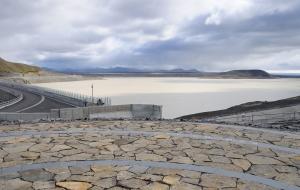 Karahonjukar Staudamm, Kraftwerk im Bau für Aluminium Fabrik