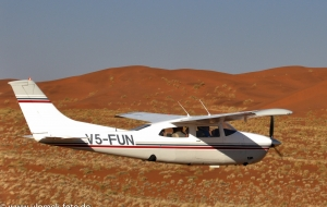 Rundflug von Swakopmund über die Namib nach Sossus Vlei zur Küste und zurück