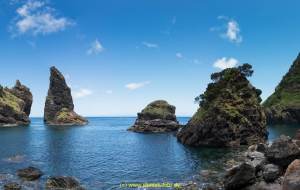 Baia de Alagoa, Nähe Cedras, Naturstrand mit tollen Felsformationen
