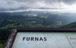 Furnas von oben auf Sao Miguel