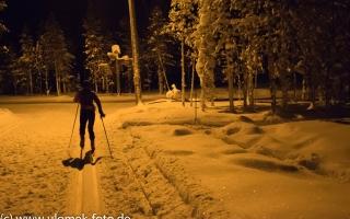 Auf den See hinaus beim Lapland Hotel Äkäshotelli