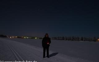 Auf den See hinaus beim Lapland Hotel Äkäshotelli See Äkäslompolo