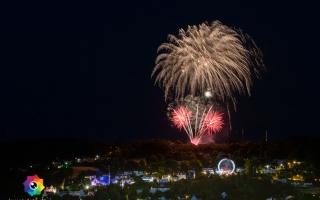 Kirmesfeuerwerk 02.07.2019 vom Standort Klosterholzstrasse aus gesehen