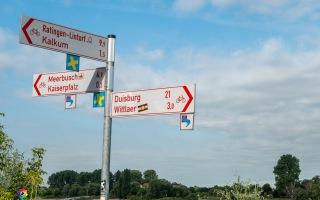 Radtour Rhein Düsseldorf bis Duisburg 22.07.220
